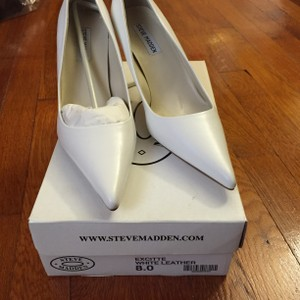 Steve Madden White Pumps Wedding Shoes