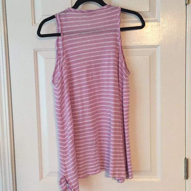 Calypso St. Barth Top Pink/purple and white striped