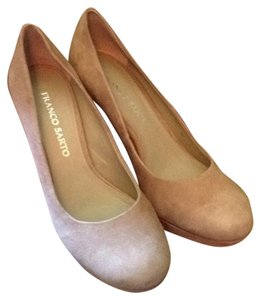 Franco Sarto Taupe Kid Suede Pumps