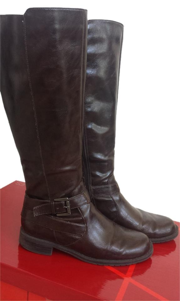 lady Aerosoles Brown Extended Calf Boots/Booties Let our products out go out products into the world 792f38