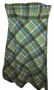 Gap short dress Blue/green plaid on Tradesy