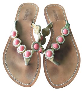 Mystique Boutique Gold and coral Sandals