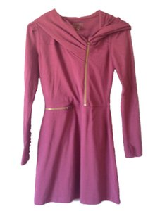 Athleta short dress Burgandy Hooded on Tradesy