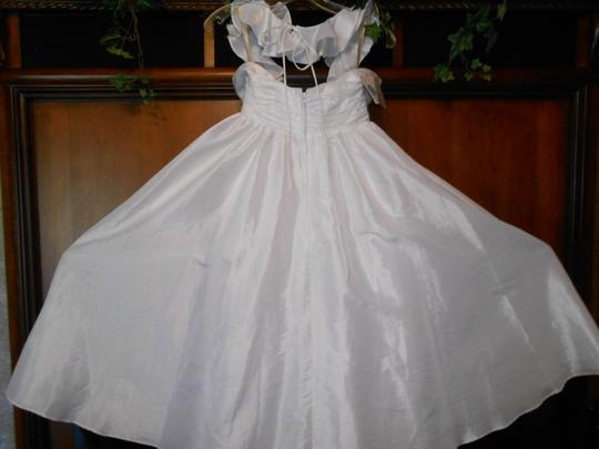 Forever Yours International White Taffeta 710219 Casual Wedding Dress Size 4 (S)