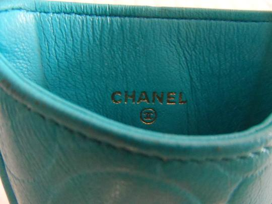Chanel Wallet Cell Phone Business Credit Card Case Holder Camellia Flower
