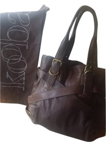 Kooba Hobo Sloane Belted Designer Tote in Chocolate brown