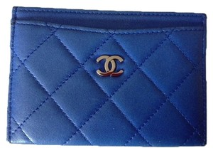 Chanel Chanel Bag Wallet CC Logo Quilted Cobalt Blue Lambskin Leather Credit Card Case Holder WOC Classic Mini Timeless