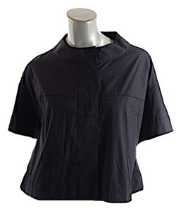 Piazza Sempione 20th Poplin Short Sleeve Black Jacket