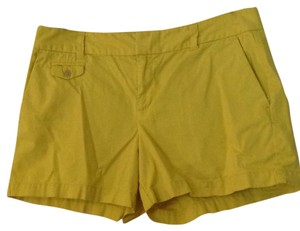 Ann Taylor LOFT Mini/Short Shorts Yellow