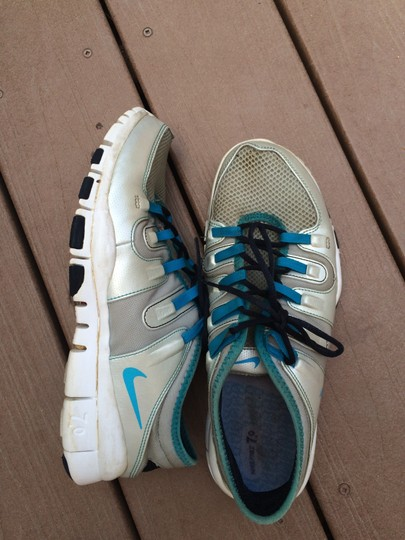 Nike Silver and Blue Athletic