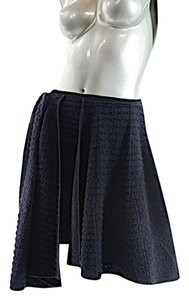 Jil Sander Windowpane Asymmetrical Skirt Black