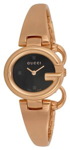 Gucci Gucci Rose Gold Ladies Watch Black Dial Designer Watch