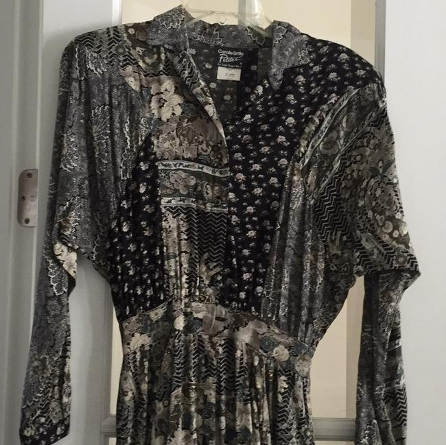 Black and grey print Maxi Dress by Carole Little