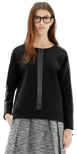 Madewell Leather Pullover Sweater