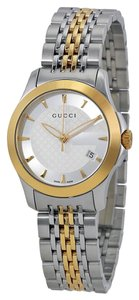 Gucci Gucci Ladies watch Gold and Silver Tone Classic Elegant Designer Watch