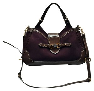 Salvatore Ferragamo Satchel in 2-Tone Burgundy/Brown