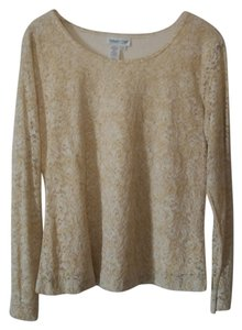 Coldwater Creek Lace Longsleeve Lined Top Multicolor