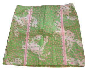 Lilly Pulitzer Skirt Green, pink and white