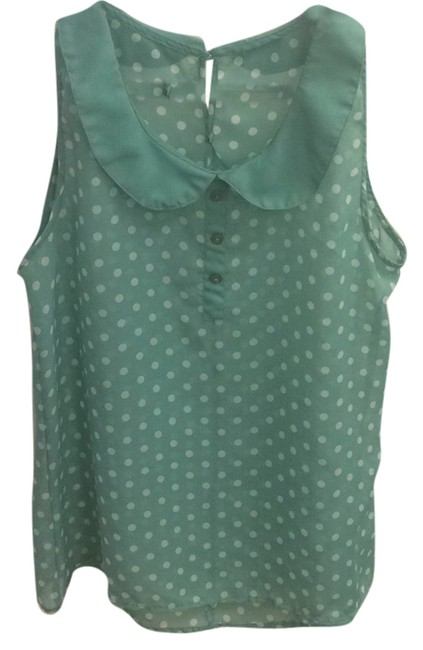 Preload https://item1.tradesy.com/images/h-and-m-teal-blouse-size-8-m-4946980-0-0.jpg?width=400&height=650