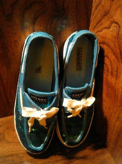 Sperry Blue Flats Image 4
