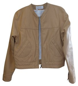 10 Crosby Derek Lam Leather Tan Motorcycle Jacket