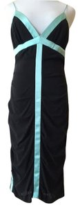 Nicole Miller Silk Aqua Trim Dress