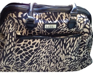 Nicole Miller Black/white/purple Travel Bag