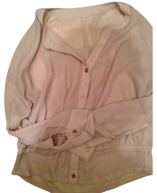 Xhilaration Button Down Shirt Beige
