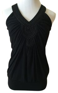 White House | Black Market Beaded Top Black