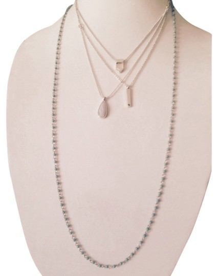 Lucky Brand Lucky Brand Silver-Tone Wear 4 Ways Blue Lace Agate Necklace
