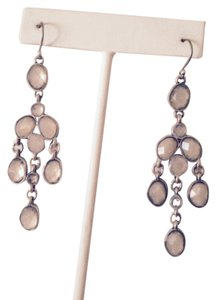 Lucky Brand Lucky Brand Silver-Tone Crystal Dangle Earrings