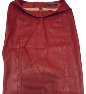 Zara Skirt Red / merlot color.
