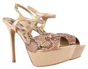 Sam Edelman Stiletto Tan/Python Pumps
