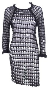 Isabel Marant short dress Etoile Black Long Sleeve Crochet Knit on Tradesy