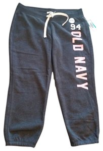 Old Navy Capris Gray & Pink