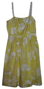 The Limited short dress Yellow and White on Tradesy
