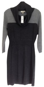 Ann Taylor LOFT short dress Black and grey on Tradesy