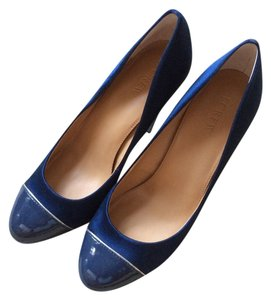 J.Crew Satin Patent Leather Blue Formal