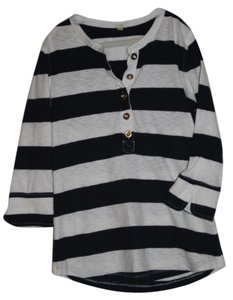 J.Crew T Shirt Navy and Ivory Stripes
