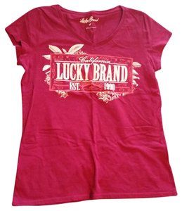 Lucky Brand T Shirt Burgundy