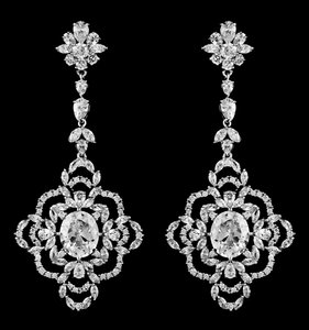 Silver Aaa-quality Cubic Zirconia Statement Earrings