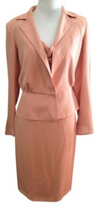 Luca Luca Luca Luca Silk Apricot Suit (dress & jacket) Size 42