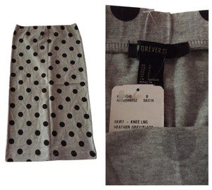Forever 21 Skirt Black and grey