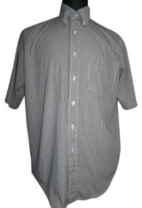 Three Rivers Three Rivers Men's Shirt, Short Sleeve Black/White Mini Check, Size Medium