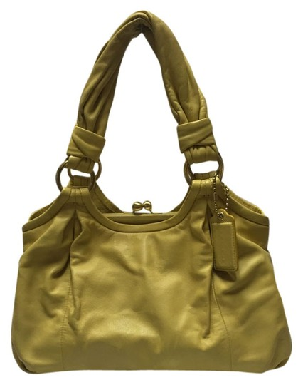 Preload https://item3.tradesy.com/images/coach-parker-13437-yellow-leather-satchel-4948387-0-0.jpg?width=440&height=440