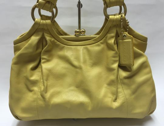 Coach Handbag Satchel in Yellow Image 1