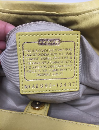 Coach Handbag Satchel in Yellow Image 11