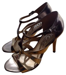 Michael Kors Metallic Gold and Silver Sandals