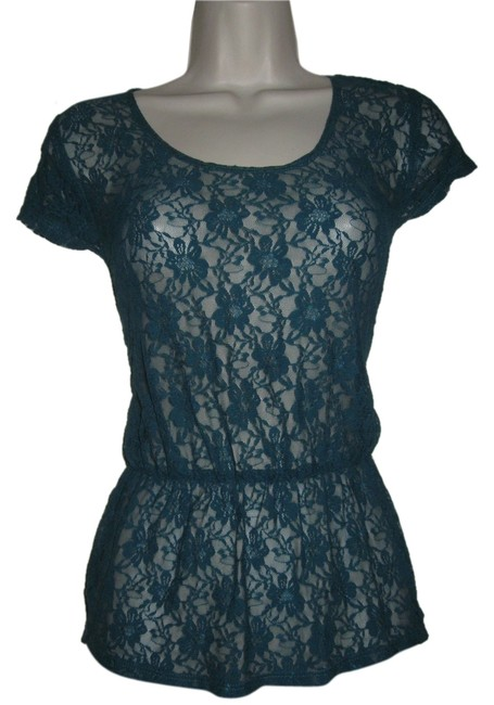 Preload https://item3.tradesy.com/images/kirra-womens-lace-shirt-top-teal-blue-4948537-0-0.jpg?width=400&height=650