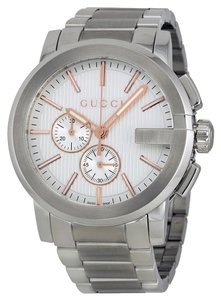 Gucci Gucci Mens Watch Silver Dial Silver Tone Dress Designer Watch